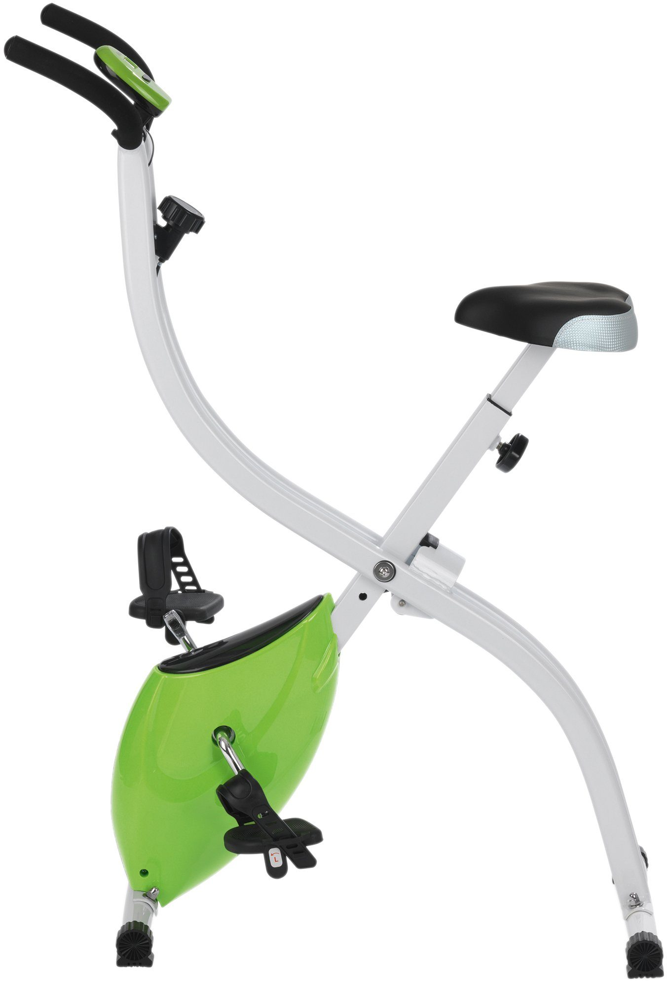 VITALmaxx Heimtrainer, weiß-grün, »Fitness Bike«