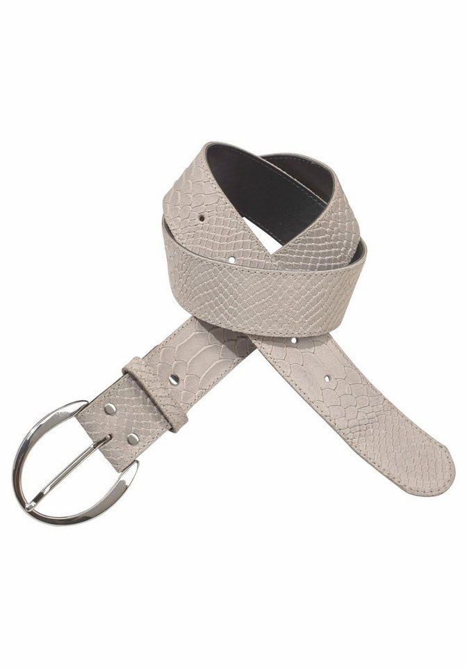 J. Jayz Ledergürtel mit glänzender Schließe in beige