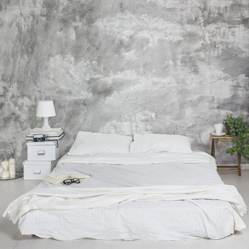 Bilderwelten Vliestapete Breit »Shabby Betonoptik« in Grau
