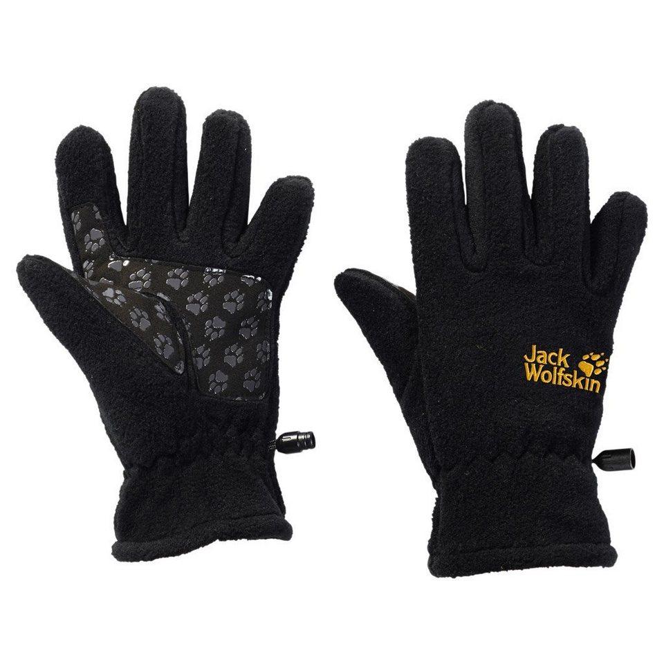 Jack Wolfskin Fingerhandschuhe »FLEECE GLOVE KIDS« in black