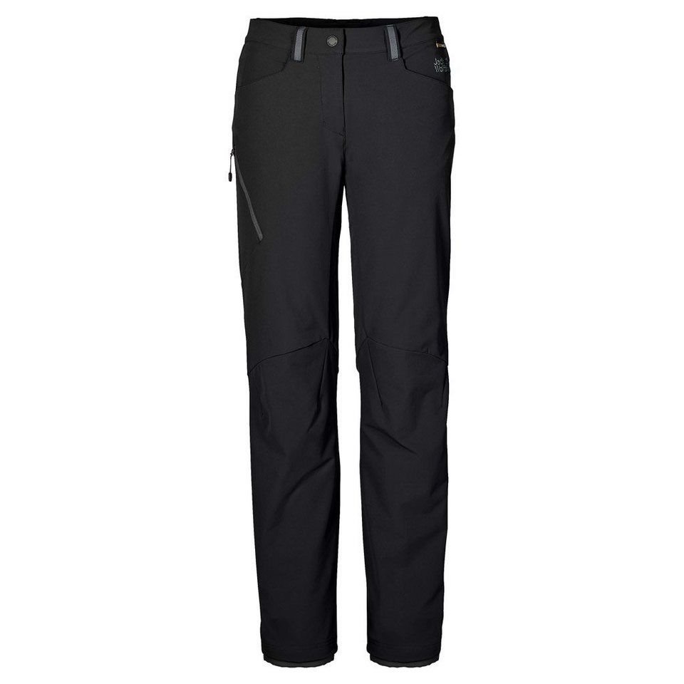 Jack Wolfskin Softshellhose »ACTIVATE 3IN1 PANTS WOMEN« 2 teilig in black