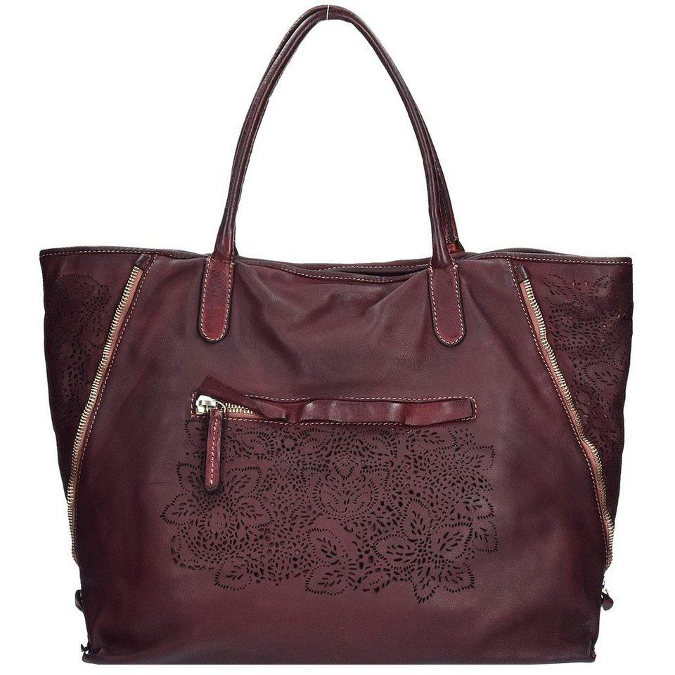 Caterina Lucchi Shopper Tasche Leder 40 cm in chianti