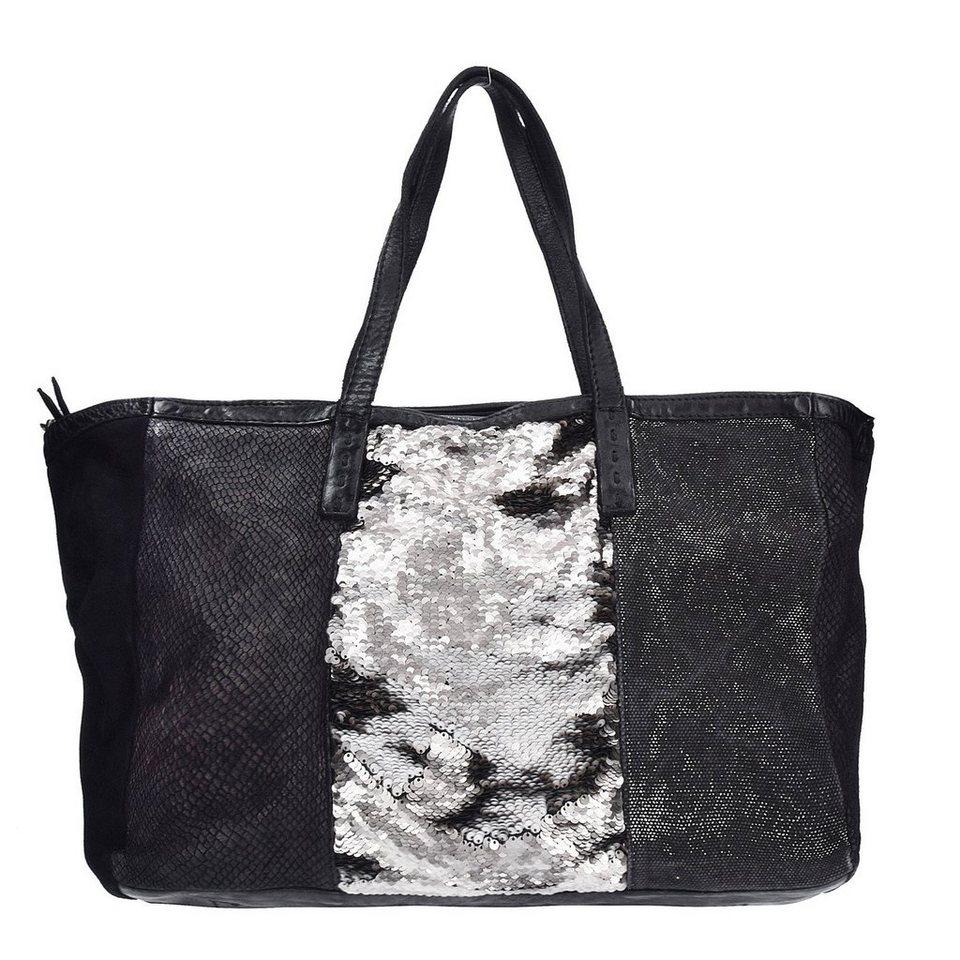 Caterina Lucchi Shopper Tasche Leder 37 cm in black