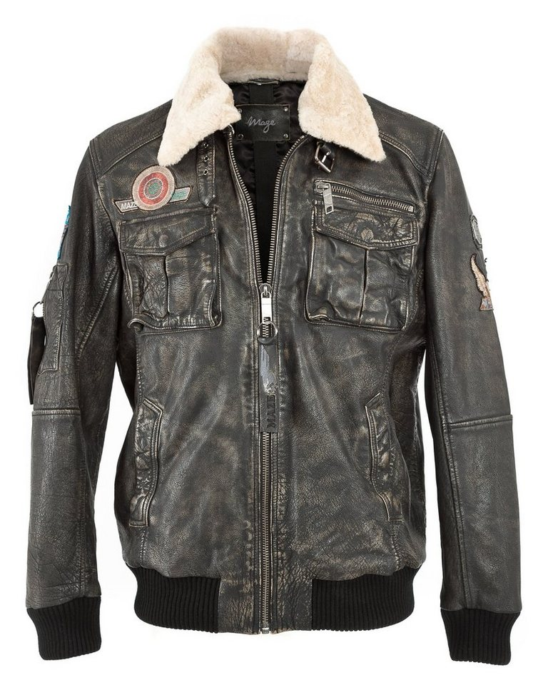 Mustang Lederblouson, Herren »Karlstad« in dark brown