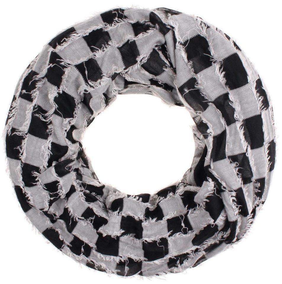 Highlight Company Schal in schwarz weiss