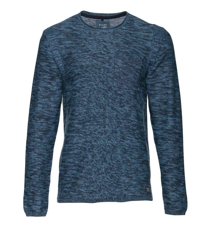 Blend Slim fit, schmale Form, Pullover in Dunkel blau