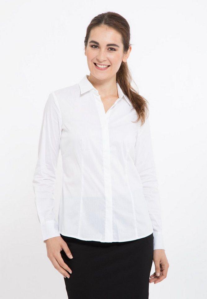 Mexx Hemdbluse mit Hemdblusenkragen in weiß