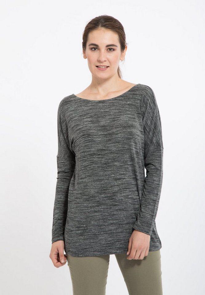 Mexx Langarmshirt mit tiefem Rückenausschnitt in grey