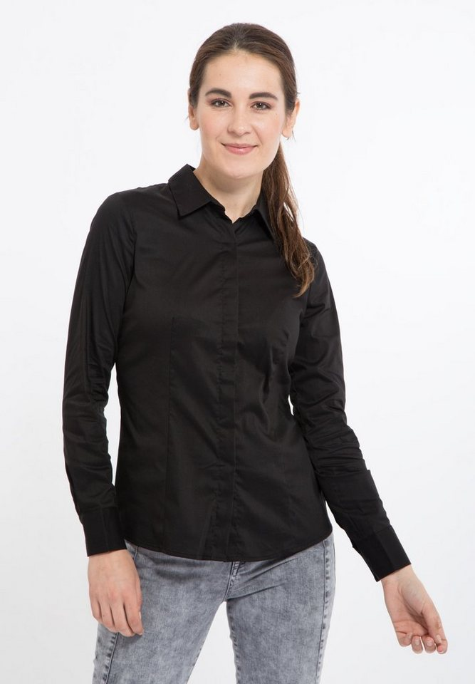 Mexx Hemdbluse in schwarz