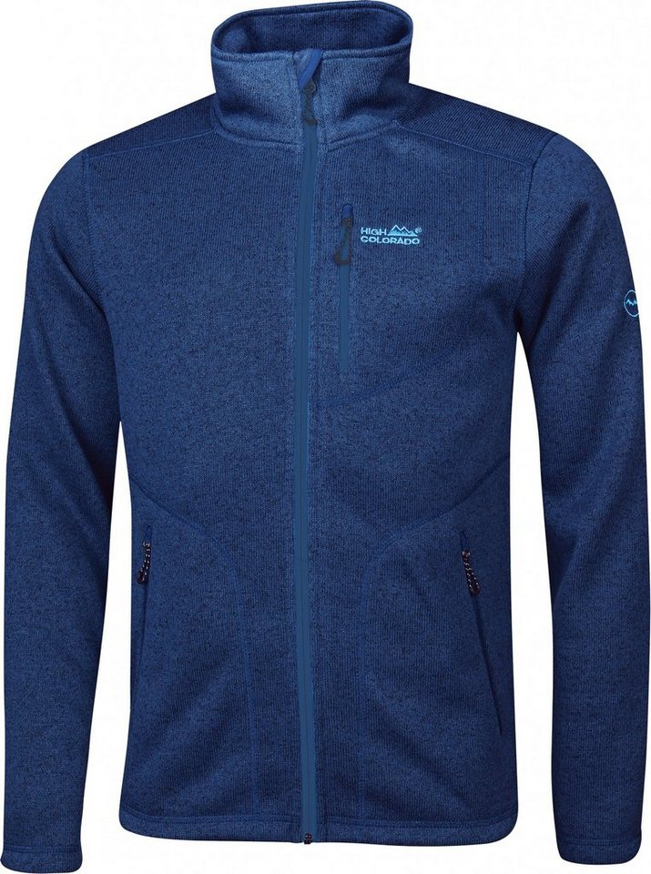 High Colorado Outdoorjacke »Rax-M Strickfleecejacke Herren« in blau
