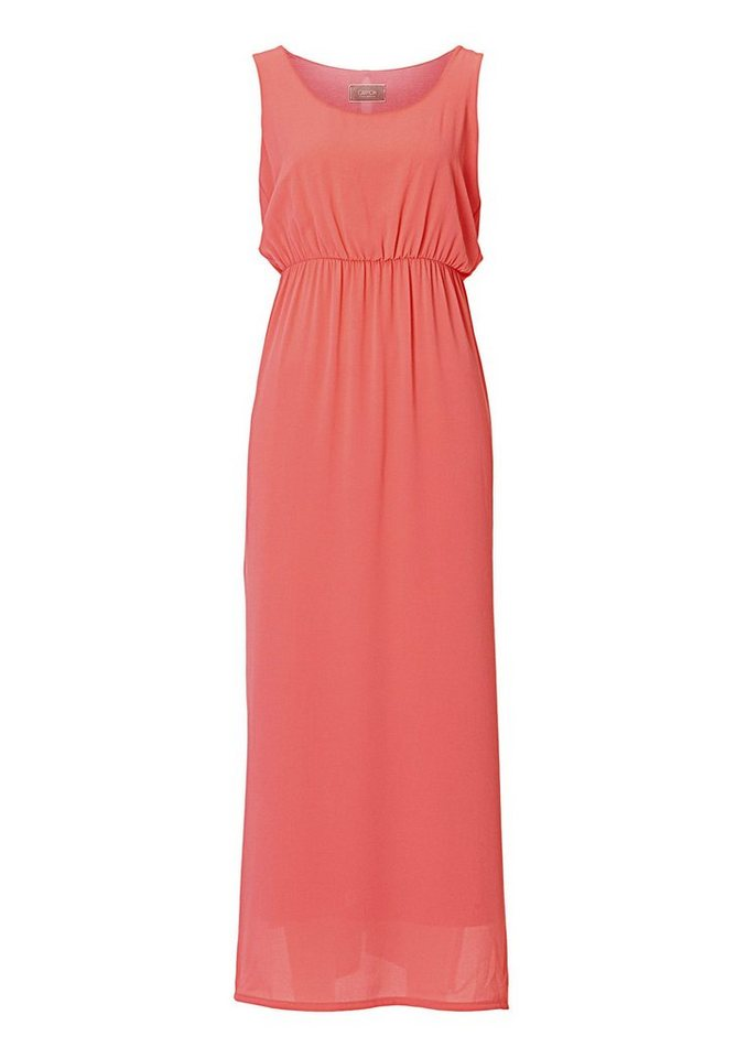 Cartoon Kleid in Sunkist Coral - Rot