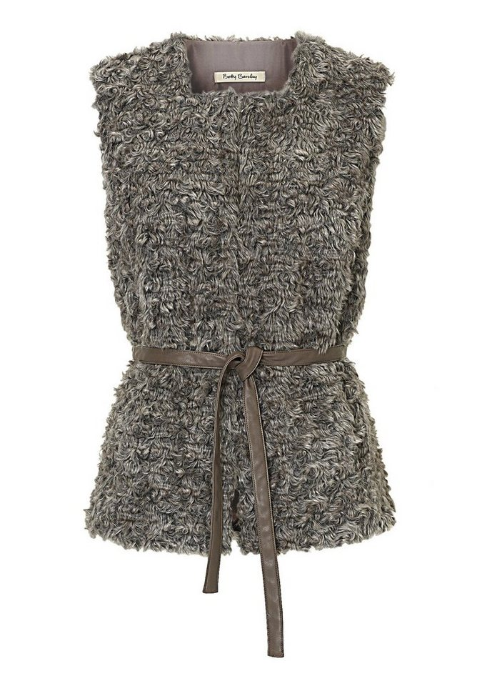 Betty Barclay Graue Weste in Grey/Taupe - Bunt