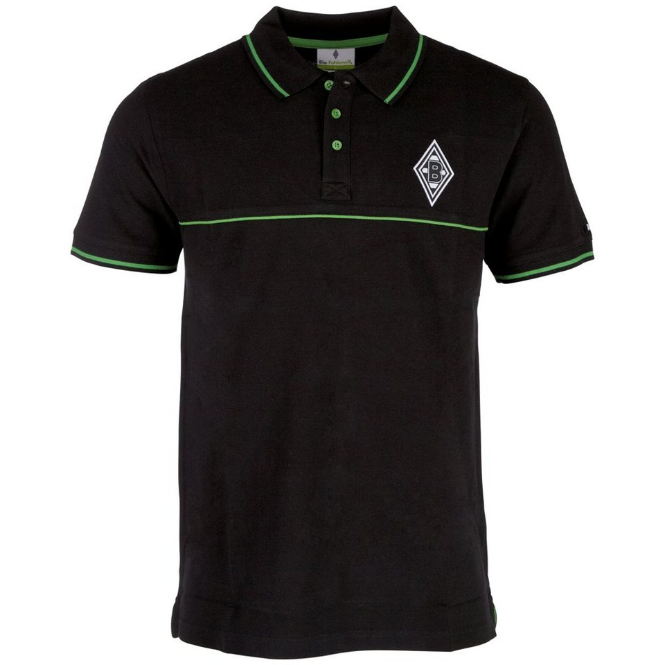 KAPPA Poloshirt »Borussia Mönchengladbach Poloshirt« in black