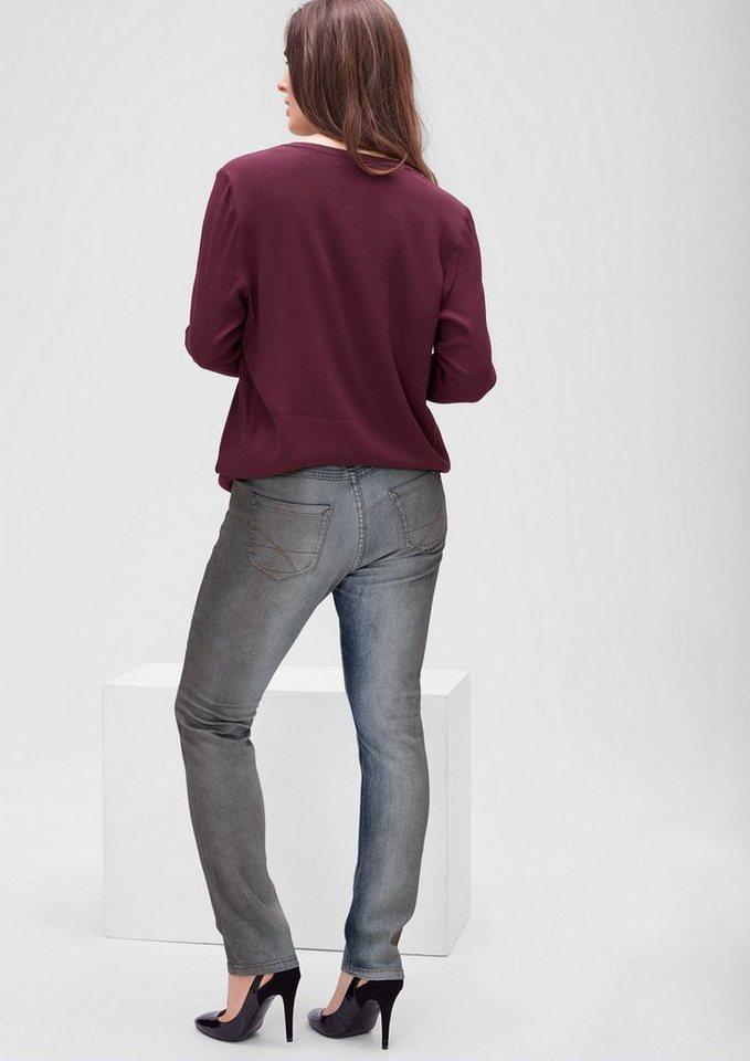 TRIANGLE Regular: Jeans mit schmalem Bein in blue denim stretch