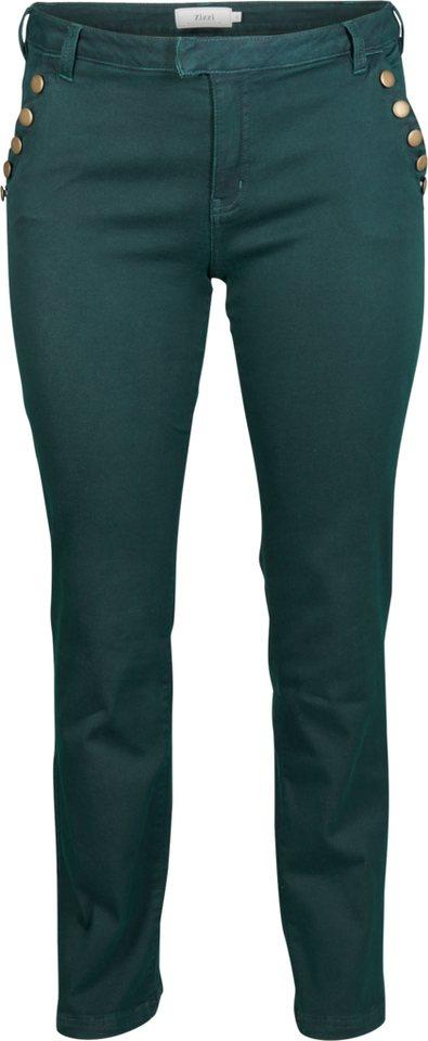 Zizzi Jeans in Green Gables