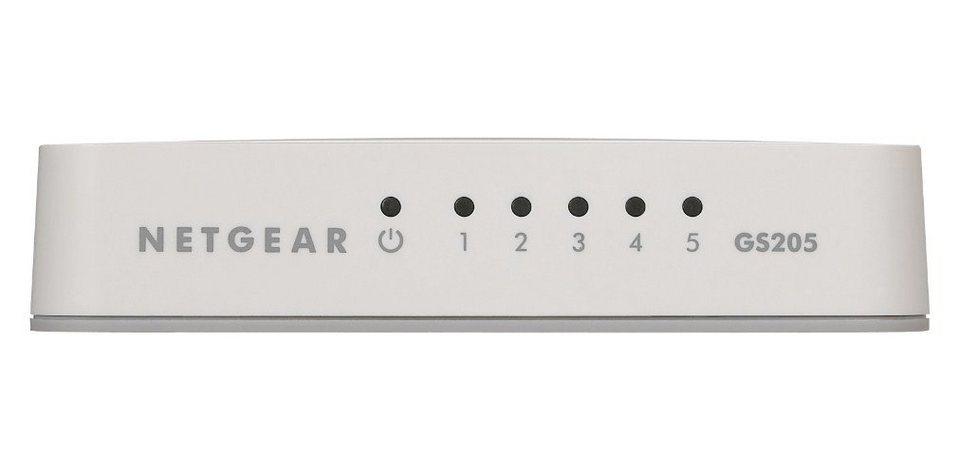Netgear Switch »GS205 5-Port GB Switch Consumer Weiß«