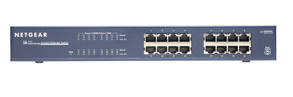 Netgear Switch »JGS516 16-Port GB unmanaged Switch«
