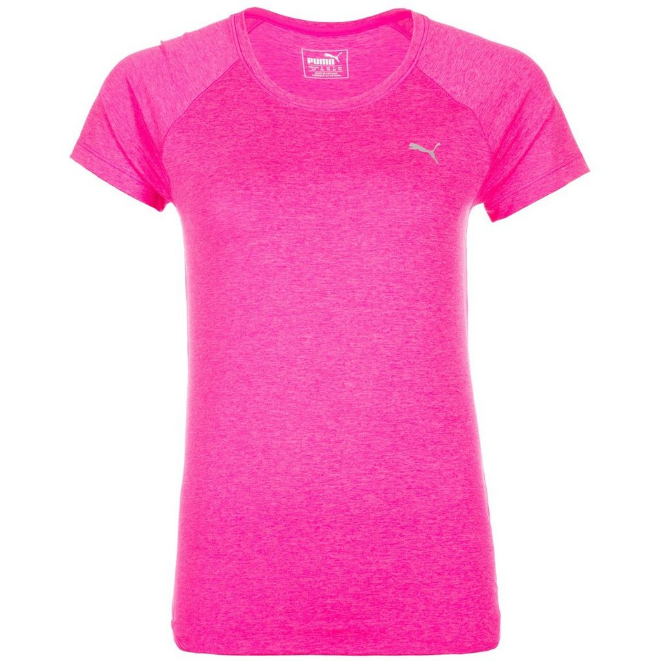 PUMA Essential Trainingsshirt Damen in neonpink