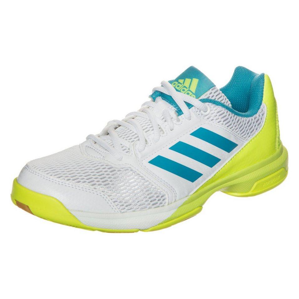 adidas Performance Multido Essence Handballschuh Damen in weiß / blau / gelb