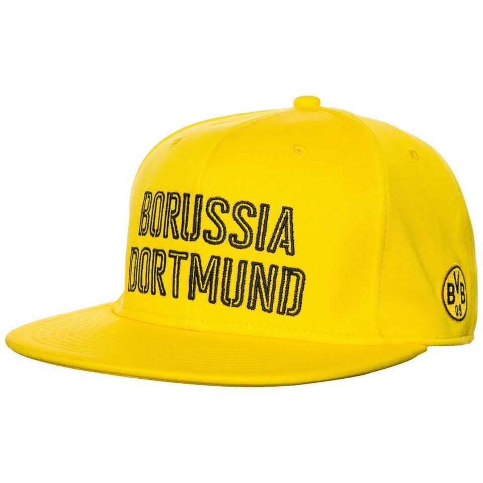 PUMA Borussia Dortmund Stretchfit Cap in gelb / schwarz