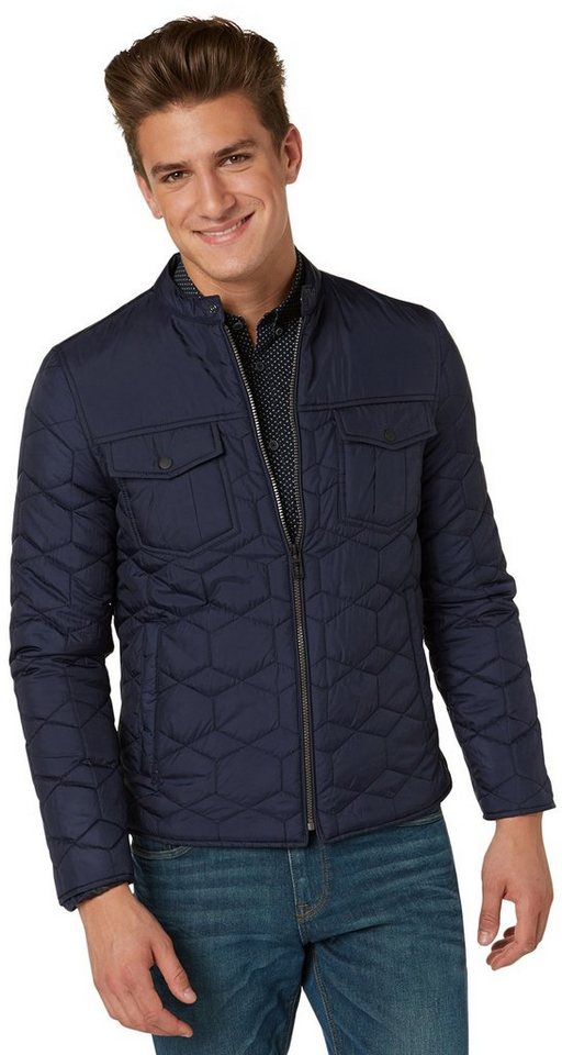TOM TAILOR Jacke »Jacke mit Steppung« in knitted navy