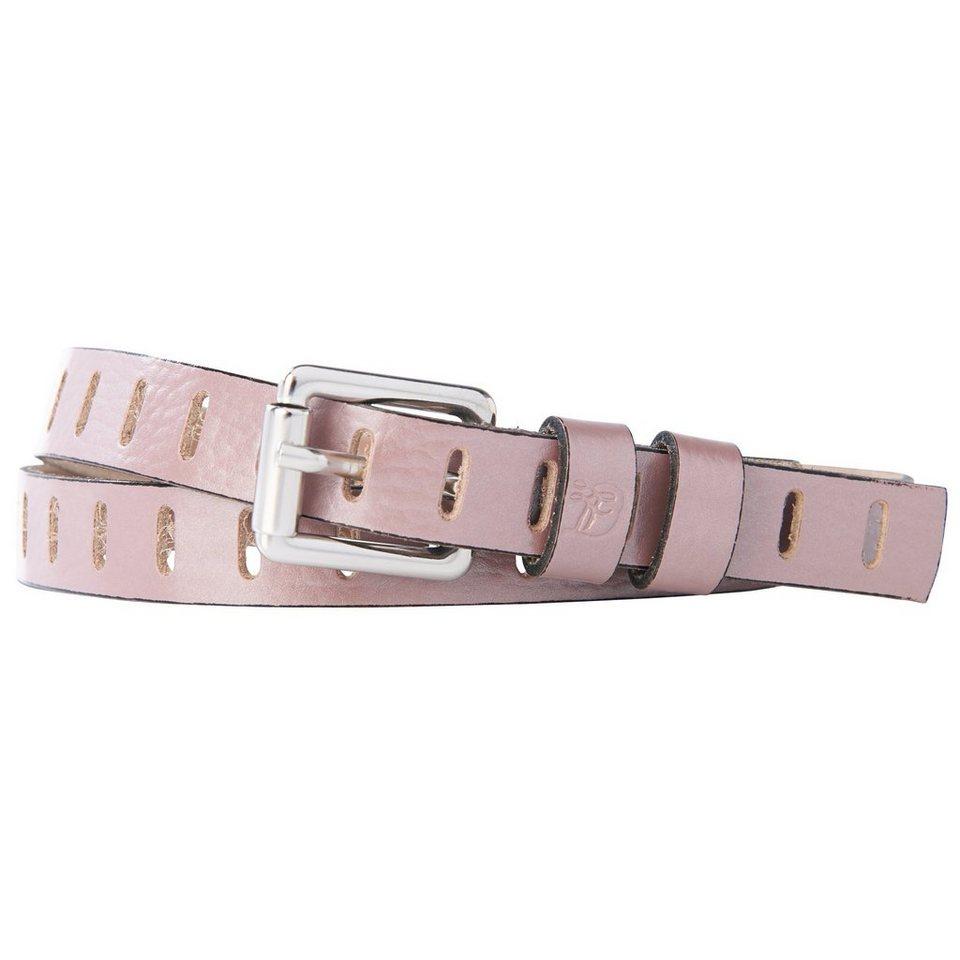 TOM TAILOR DENIM Gürtel »Ledergürtel mit Metallic-Effekt« in rose
