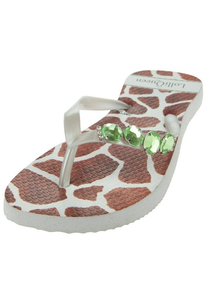 Lolli Queen Zehentrenner »GIRAFFE I« in white