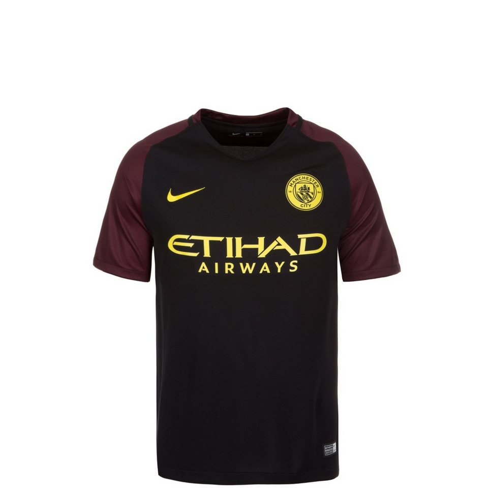 NIKE Manchester City Trikot Away Stadium 2016/2017 Kinder in schwarz / rot / gelb