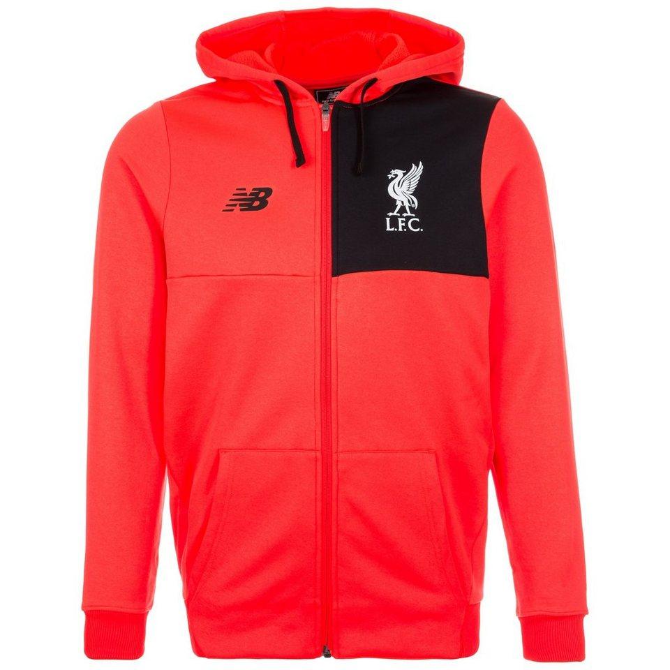 NEW BALANCE FC Liverpool Elite Kapuzenjacke Herren in neonrot / schwarz