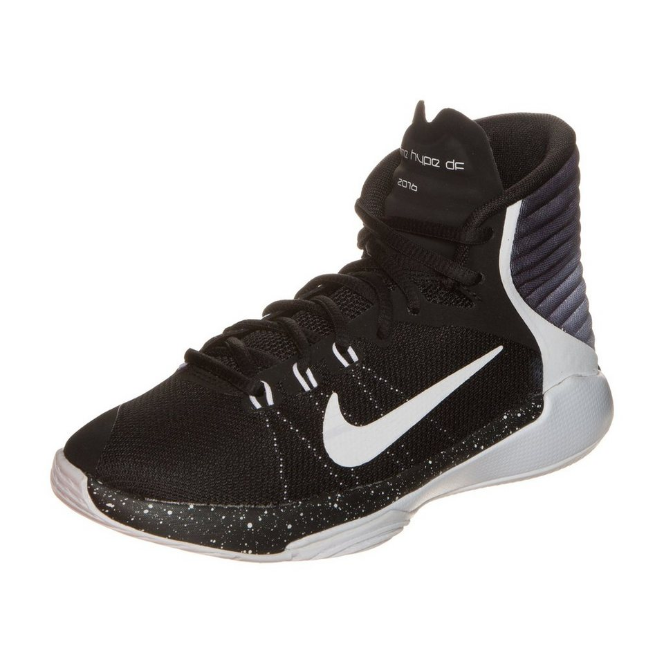 NIKE Prime Hype DF 2016 Basketballschuh Kinder in schwarz / weiß