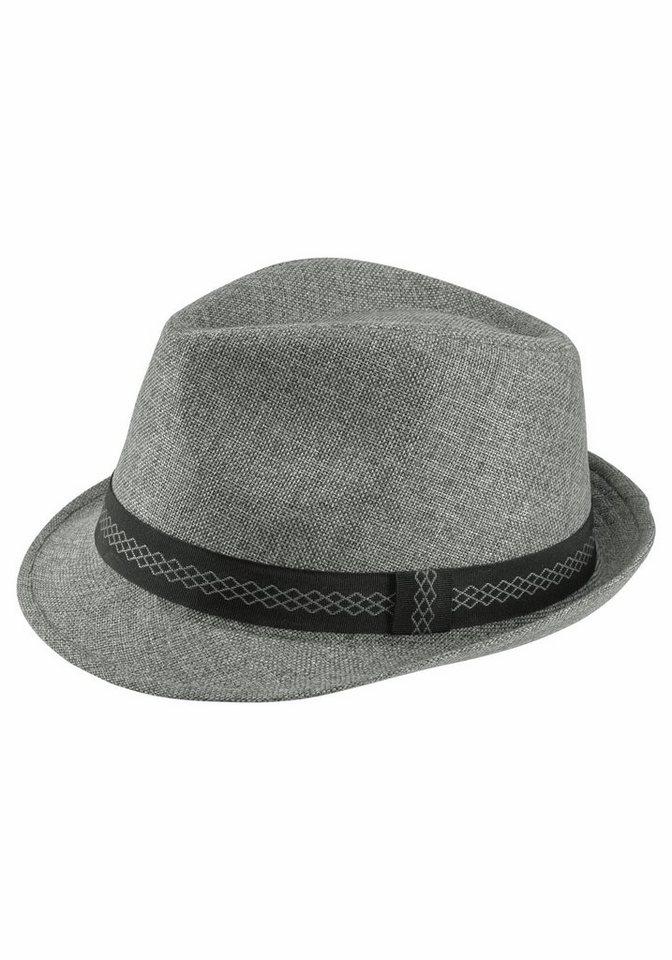 J. Jayz Trilby mit gemusterten Hutband in grau