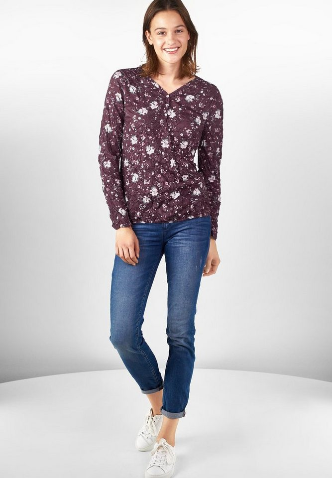 Street One Shirt mit Blütenprint Gunia in night plum
