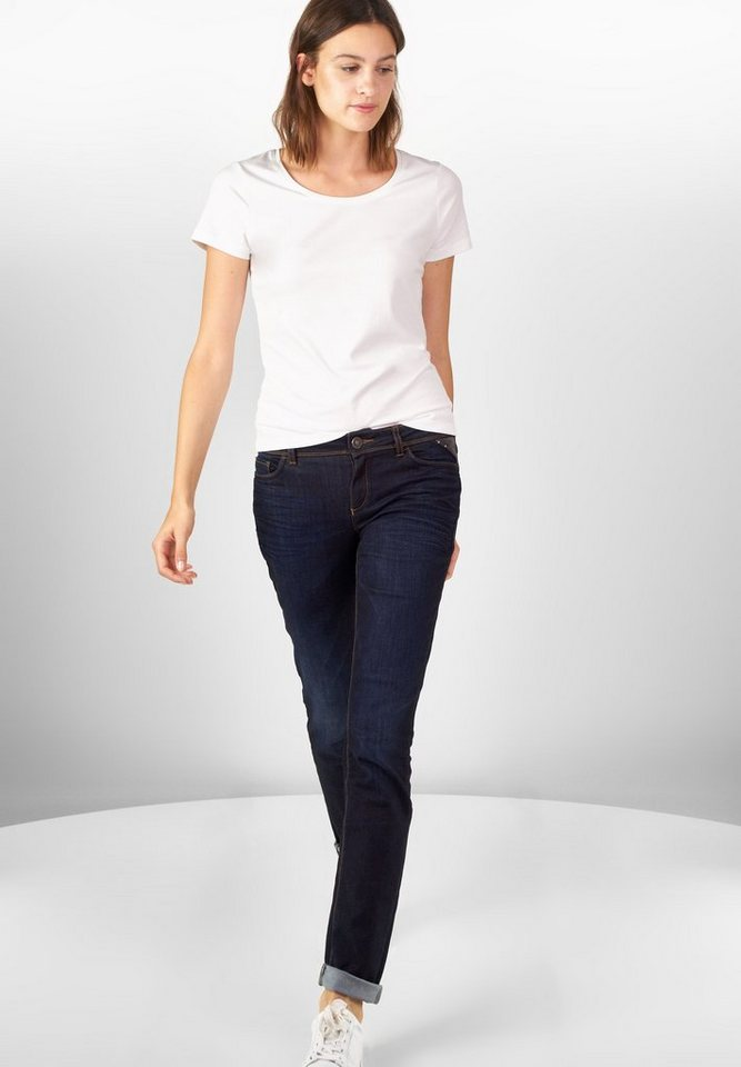 Street One Casual Fit Jeans Jane in dark blue overdyed