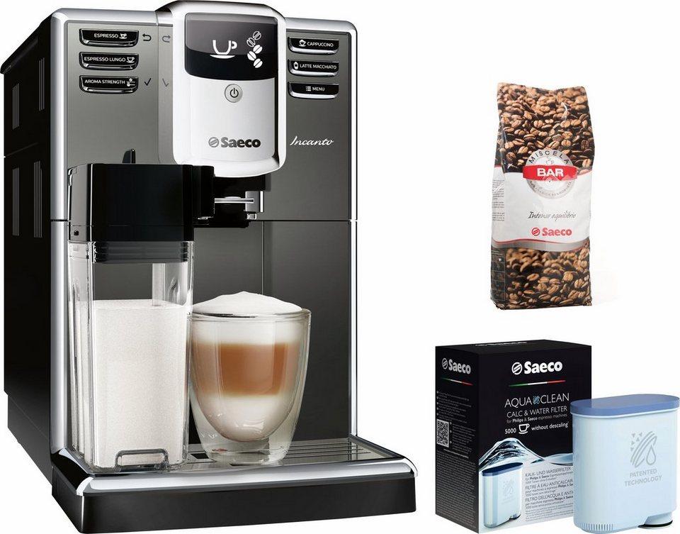 Saeco Kaffeevollautomat HD8918/41 Incanto mit Milchkaraffe, titanium in titanium