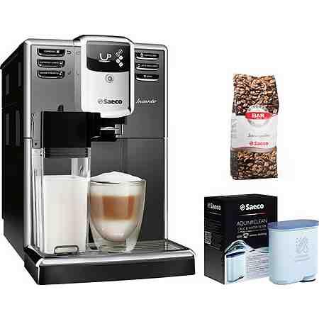 Saeco Kaffeevollautomat HD8918/41 Incanto mit Milchkaraffe, titanium