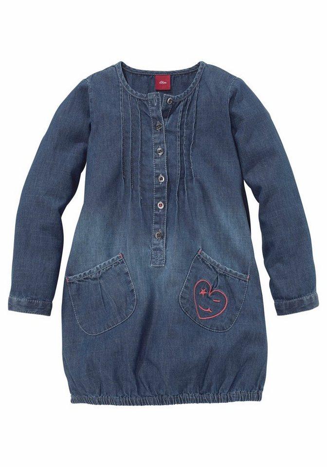 s.Oliver RED LABEL Junior Jeanskleid in blue-denim