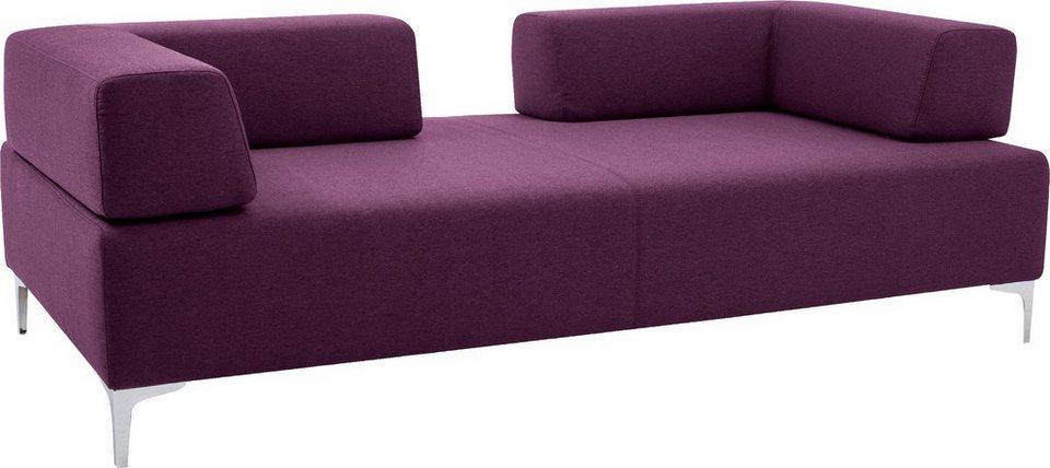 pure. by machalke 2,5-Sitzer Sofa »Barnes«, mit verstellbaren Rückenelementen in violet