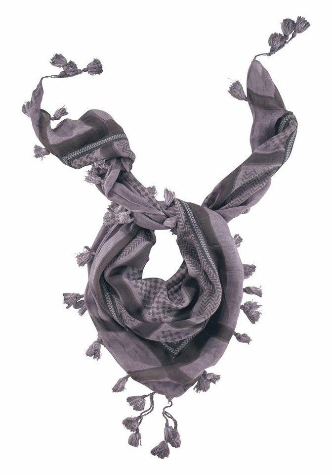 J. Jayz Modetuch mit langen Tasseln in lila