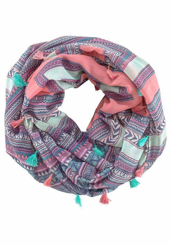 J. Jayz Modeschal mit farbenfrohen Muster in bunt