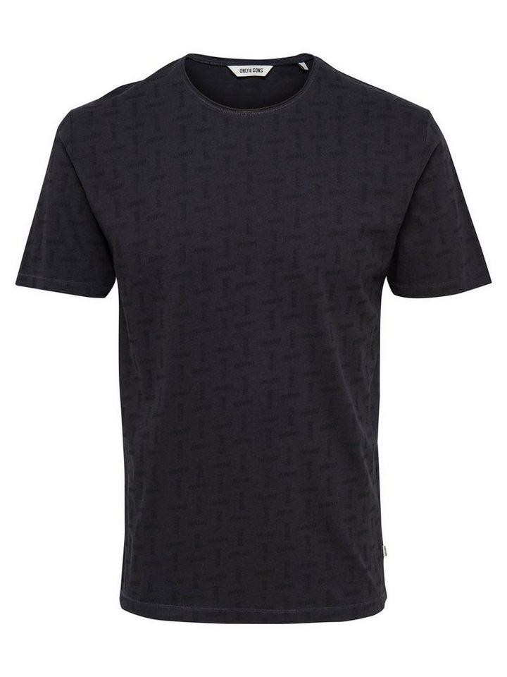 ONLY & SONS Bedrucktes T-Shirt in Dark Navy