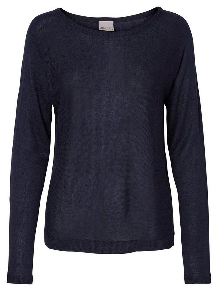 Vero Moda Langärmelige Pullover in Navy Blazer