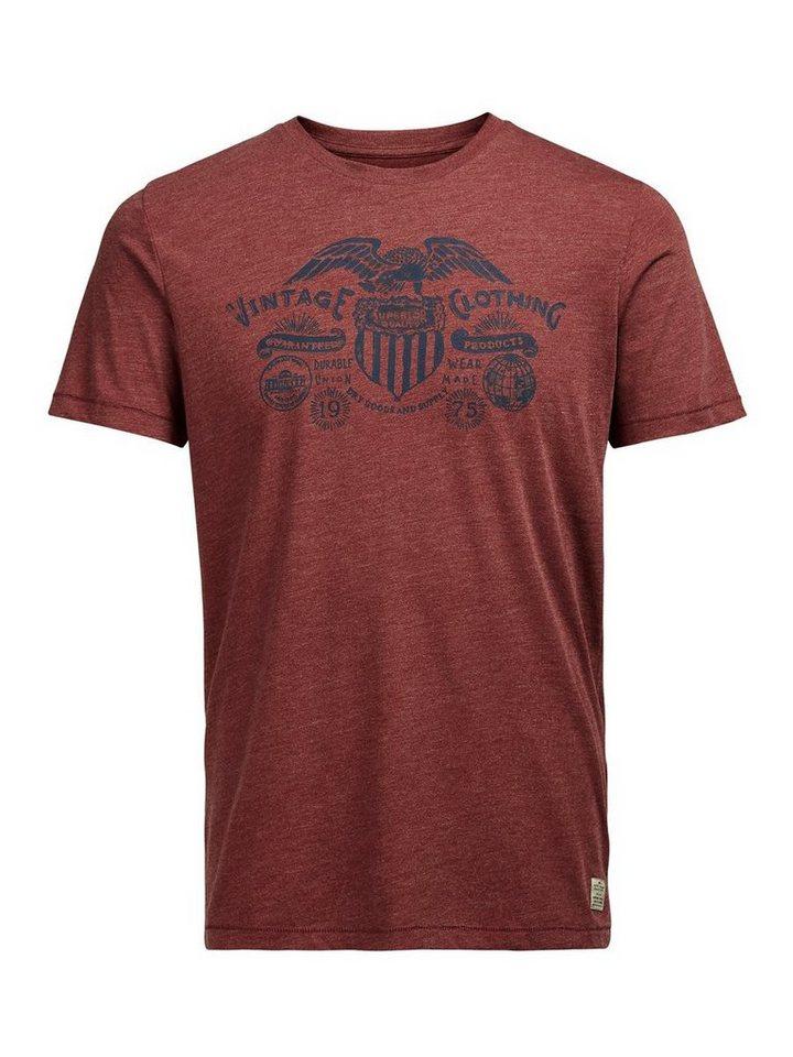 Jack & Jones Bedrucktes T-Shirt in Fired Brick