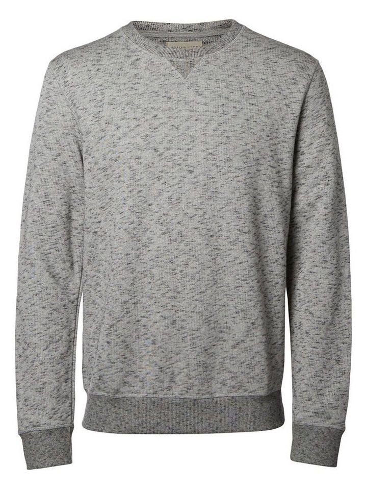 Selected O-Ausschnitt- Sweatshirt in Antracit