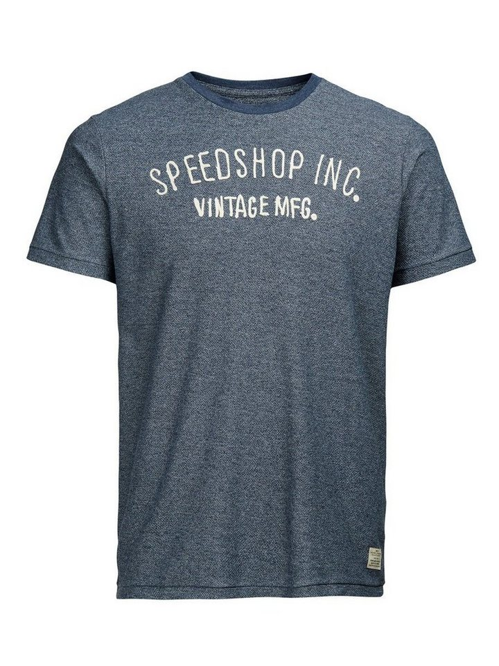 Jack & Jones Besticktes T-Shirt in Mood Indigo