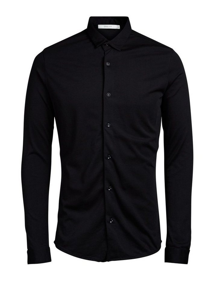 Jack & Jones Jersey- Langarmhemd in Black 1