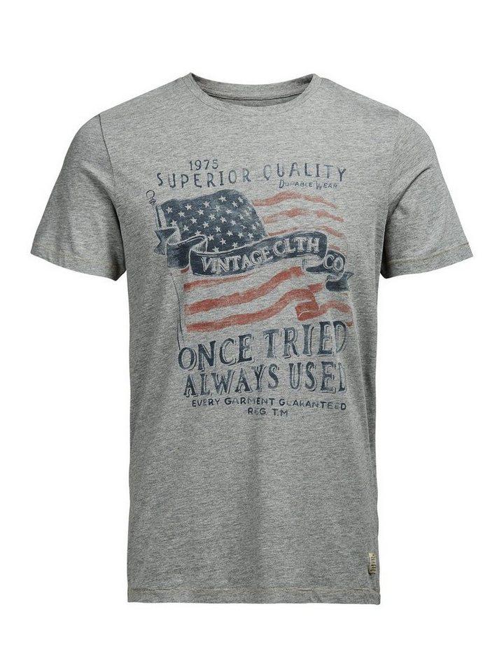 Jack & Jones Bedrucktes T-Shirt in Light Grey Melange