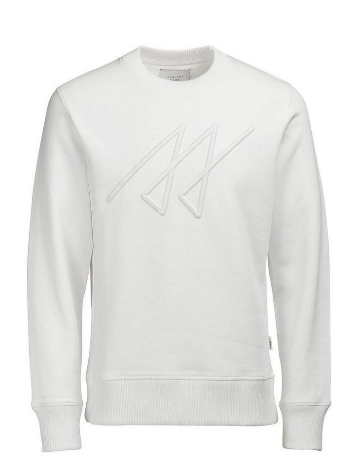 Jack & Jones Dickes Sweatshirt in Blanc de Blanc