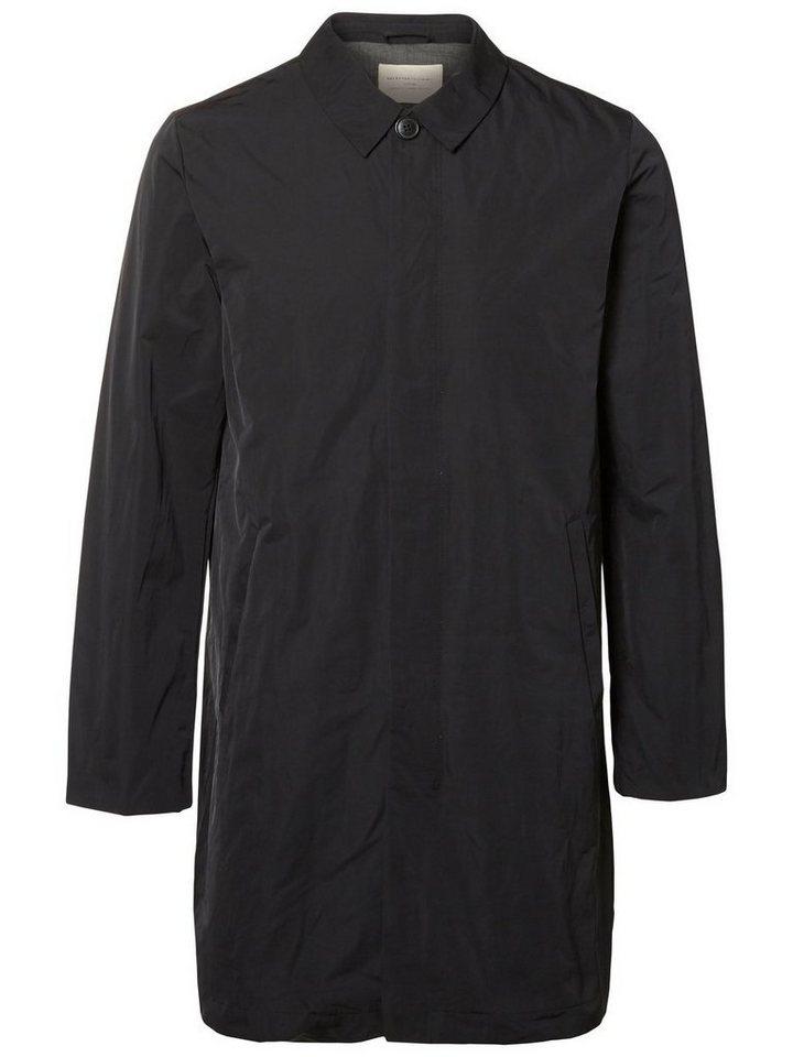 Selected Regular-Fit- Mantel in Black