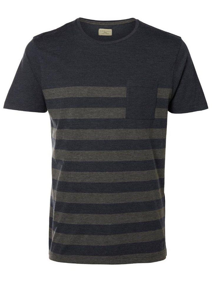 Selected O-Ausschnitt- T-Shirt in Dark Navy 2