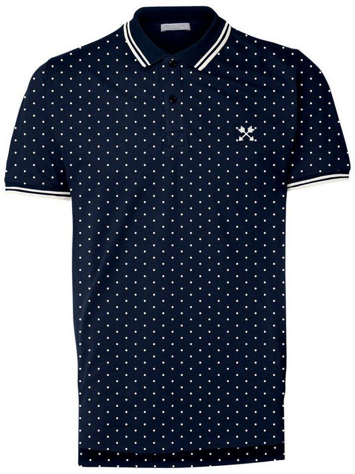 Selected Bedrucktes Poloshirt in Navy Blazer